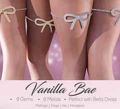 Vanilla Bae - Bella Chains (Hopey Honi in SL) Tags: chains jewelry ribbon slink belleza maitreya hourglass freya isis