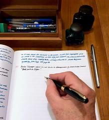 """Book lack in Ongar"" 275-365 (11) (♔ Georgie R) Tags: handwriting pen fountainpen cross sheaffer werehere wah hereio ink"