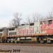 2/3 BNSF 688 & 670 on EB Power Move Olathe, KS 1-28-18