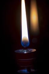 Flame (Crisp-13) Tags: oil lamp flame light burn burning wick fire