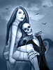 Jack and Sally Nightmare Before Christmas Art by Sherrie Thai of Shaireproductions.com (shaire productions) Tags: nightmarebeforechristmas nbcart jackandsally sexysally movieart filmart artist rendition sherriethaiart shaireproductionsart illustration couple love valentinesday dark gothic horror macabre art cultclassic blackandwhite portrait sfartist realisticart style timburtontribute zombiegirl jackskellington realisticjackandsally halloween bats pinup girl undead characters