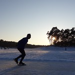 Sunset Ice Skating, Henschotermeer, Woudenberg, Netherlands - 0447 thumbnail