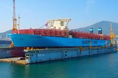 MARSEILLE MAERSK (Ugborough Exile) Tags: okpo dsme geoje korea sony a6300 ships 2017