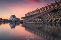 Valencia (Pastel Frames Photography) Tags: valencia spain sunset cityscape canon5dmark3 canon1635mm leefilters reflection buildings water sky clouds