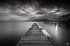 le soleil qui imitait la lune (flo73400) Tags: lacdannecy hautesavoie poselongue landscape lake water longexposure bw nb le lebw paysage