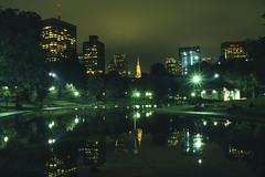 Boston, Massachusetts: Frog Pond in Boston Common (rocinante11) Tags: boston night massachusetts bostoncommon longexposure timedexposure ambient ambientlight film slidefilm filmcamera canona2e