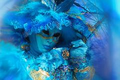 A dream in blue (ej - light spectrum) Tags: venice venedig venezia carnevale 2017 olympus omd em5markii mzuiko blue blau maske mask costume kostüm dreamy verträumt lady m1240mmf28 melancholic italy italien