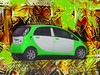 Are 'Friends' Electric? (Steve Taylor (Photography)) Tags: tubewayarmy garynuman arefriendselectric electric car mitsubishi imiev art digital design green brown yellow white auto automobile vehicle newzealand nz southisland canterbury christchurch northnewbrighton