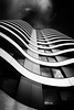 Relax In The City (New Wave) by Simon Hadleigh-Sparks (Simon Hadleigh-Sparks) Tags: blackandwhite city urban architecture contrast curve window building london lines white black glass monochrome outdoor pattern simonandhiscamera diagonal abstract symmetry geometric vertical vertigo