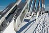 tirantes en base (martineugenio) Tags: líneas nieve puente snow brigde lines color colour madrid españa spain europa europ blue white sky cielo estructura arquitectura