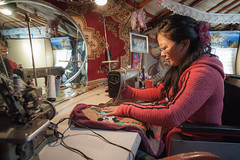 42059-012: Energy Conservation and Emissions Reduction from Poor Household in Mongolia (Asian Development Bank) Tags: mongolia mng ulaanbaatar 42059 42059012 woman seamstress sewing sewingmachine trade livelihood ger yurt tent home house housing womenempowerment socialprotection