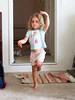 Rosa At Nana's 012 (C & R Driver-Burgess) Tags: cute child dance toddler preschooler pyjamas green hair glasses ballet hiphop piano carpet girl kid niece daughter