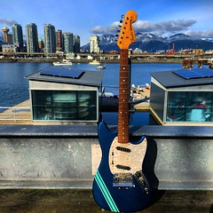 A Touch of Blue (Pennan_Brae) Tags: music musicphotography yvr vancity vancouver vancouverbc electricguitars fender fenderguitars fenderguitar electricguitar fendermustang