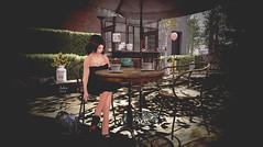 Morning addiction (Jules Richland) Tags: justbecause applefall morning coffee phedora magika fairhaven catwa maitreya shadows formanails portrait girl pinupdress sl secondlife