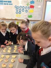 Smarties Cookies - baking in Mrs Flood's Class