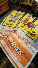 """MONSTER SIX SHEET MOVIE POSTER OF """"6 BLACK HORSES"""" WITH AUDIE MURPHY.  $175. • <a style=""""font-size:0.8em;"""" href=""""http://www.flickr.com/photos/51721355@N02/38730231205/"""" target=""""_blank"""">View on Flickr</a>"""