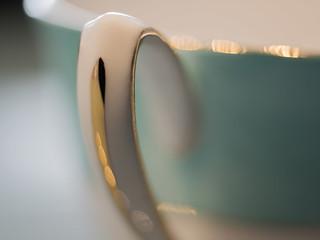 vintage tea cup  handle in closeup