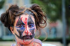 """Be uniquely you. Stand out. Shine. Be colorful. The world needs your prismatic soul!"" (Gilles,Gilles,Lemonpeel) Tags: zombiefantasticwalk zombie rouen portrait bokeh rawtherapee gimp nikon"
