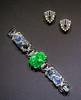 bracelet and clips (Tim Evanson) Tags: jewlery clevelandmuseumofart jazzage artdeco bracelet dressclip jade