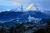 Good Morning Berchtesgaden!! (louelke - on and off) Tags: berchtesgadennationalpark mtwatzmann alps germany bavaria mountains snow symbol berchtesgaden