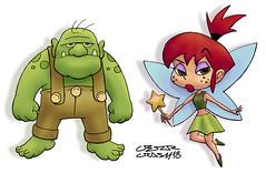 Troll & Fairy (Cesar Crash) Tags: troll fairy magic fantasy fantasia ogro fada magia kids criança infantil children personagens characters cartoon desenho