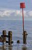 GROYNE AND MARK (mark_rutley) Tags: groyne navigationmark sea solent clouds sky hampshire