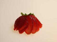2018 Sydney: Sliced Strawberry (dominotic) Tags: 2018 food fruit slicedstrawberry minimal macro x52 red sydney australia