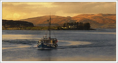 Last Catch of the Day(Scotland) (williamwalton001) Tags: borders buildings boat texture trees mountains scotland water dockbay greatphotographers