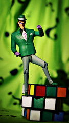 Need a Hint? (GothGeekBasterd) Tags: riddler batman animated series dc comics action figure green logic puzzle villain edward nygma mastermind criminal nashton eddie nash genius