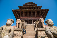 Bhaktapur (rfabregat) Tags: bhaktapur square nepal nepalese pagoda architecture perspective alone man travel travelphotography nikon nikon750 nikond750 d750 nikkor nikkorlenses nikkor24120mm