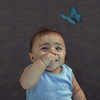 Benjamin (el curioso) (Kathy Chareun) Tags: baby bebe love amor blue azul celeste art arte fineart fineartphotography boy nene niño child kid surreal surrealism surrealismo surrealistic wings alas