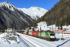 Winterliches Mallnitz (C.Vitzthum) Tags: 1016023 werbelok rca 1144 mallnitz tauernbahn taurus 1116 1016
