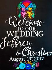 Simple 'Welcome' board with custom take on an old Grateful Dead design for my sister (Night Owl Signs) Tags: deadhead wedding faretheewell gratefuldead chalkart chalkboard art chalk