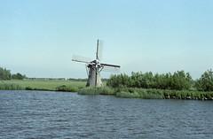 Bild035 (Elisabeth patchwork) Tags: analog film 1983 blue netherlands windmill scanned fromnegative