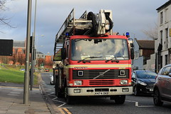 Merseyside Fire & Rescue Service CPL (Liam Blundell Photography) Tags: merseyside fire rescue service cpl afa old angloco k474okb liverpool city centre supershot volvo fl10 combined platform ladder very engine islingon m11a1