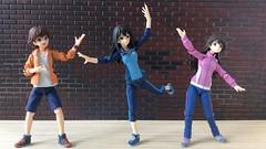 Dance Practice (3) (Sasha's Lab) Tags: mio honda 本田未央 rin shibuya 渋谷凜 uzuki shimamura 島村卯月 idolmaster idol high school teen girl dance choreography practice rehearse figma gsc action figure jfigure toy