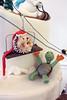 Ski Slope Creatures Figurines Cake (Oakleaf Cakes) Tags: gumpaste figurines