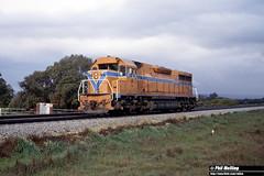 3196 L252 light engine South Guildford 15 July 1982 (RailWA) Tags: railwa philmelling westrail 1982 l252 light engine south guildford