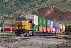 Distributed Power 1x1 (jamesbelmont) Tags: unionpacific es44ac ge container stacked echo utah kmnoa distributedpower 7731 raiway