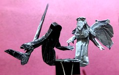 Origami - WILL YOU BE MY VALENTINE? (Neelesh K) Tags: origami death life love valentine day grim reaper angel neelesh k paper folding box pleating traacing black white light dark