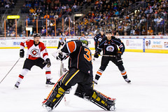 "Kansas City Mavericks vs. Cincinnati Cyclones, February 3, 2018, Silverstein Eye Centers Arena, Independence, Missouri.  Photo: © John Howe / Howe Creative Photography, all rights reserved 2018. • <a style=""font-size:0.8em;"" href=""http://www.flickr.com/photos/134016632@N02/39407447384/"" target=""_blank"">View on Flickr</a>"