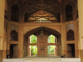 Iranian traditional architecture in Hasht Behesht palace, Isfahan, Iran
