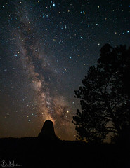 Milkyway above Devils tower, Wyoming (Bill-Metallinos) Tags: night parent utah long exposure astronomy national park milky way astrophotography milkyway photography nightscape nightsky devils tower astrocorfu astrolandscape metalllinos