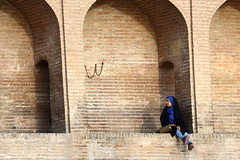 UU (deus77) Tags: siosepol allahverdi khan bridge bridges esfahan isfahan iran persian iranian woman women girl girls portrait street photography candid