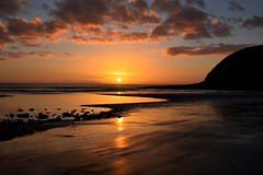 Sunset (moniquerebanks) Tags: st bees coast reflections zonsondergang kust strand zee nature outdoors