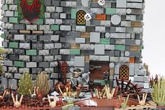 Beast Tamer's outpost. (Yobb Rschp) Tags: beast tamer dino dinosaure altbricks army accessories fantasy castle fantasyera lego medieval belgium raptor brickforge brickwarriors brick troll orc tree custom jurassic outpost minifigure knight block moc velociraptor