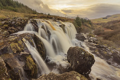 Loup of Fintry (Mike Clark 100) Tags: mikeclark loup fintry waterfall scotland campsie hills spate cloud sunset landscape