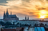 Prague Sunset (dxd379) Tags: prague czech republic europe praha praguecastle stvituscathedral st vitus cathedral nikon d7100 architecture evening rooftop