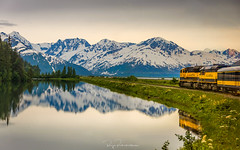 Alaska Railroad (rajaramki) Tags: alaska railroad alaskarailroad train reflection