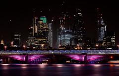Blackfriars Bridge Light-show, London, United Kingdom (WilliamFisherPhotography) Tags: london nikon d610 70200 longexposure cityscape city night river buildings skyscraper blackfriars bridge architecture citylife